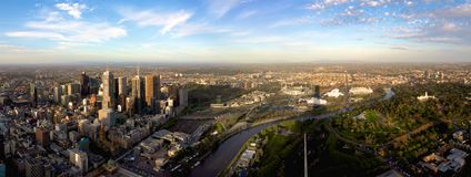Panorama di Melbourne Fotografia Stock Libera da Diritti