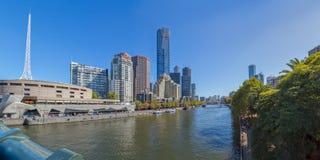 Panorama di Melbourne Southbank Fotografia Stock