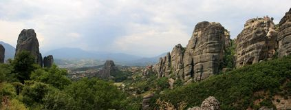 Panorama di Meteora Immagini Stock