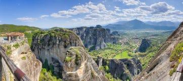 Panorama di Meteora, Thessaly, Grecia Fotografia Stock Libera da Diritti