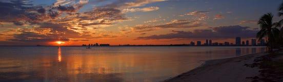 Panorama di Miami fotografia stock libera da diritti