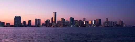 Panorama di Miami immagini stock libere da diritti