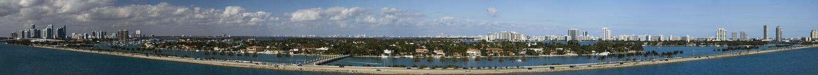 Panorama di Miami Fotografia Stock