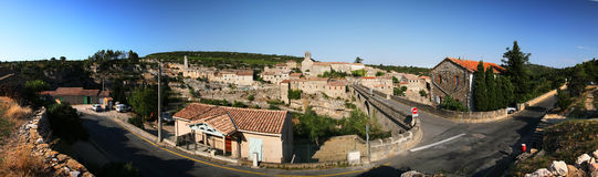 Panorama di Minerve Fotografie Stock