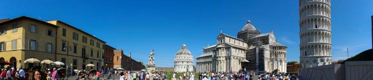 Panorama di Miracoli di dei della piazza di Pisa Immagini Stock Libere da Diritti