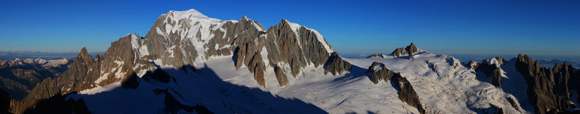 Panorama di Mont Blanc Fotografia Stock