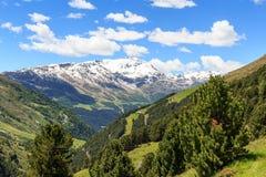 Panorama di Monte Sobretta della montagna nelle alpi di Ortler Fotografia Stock Libera da Diritti