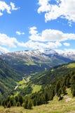 Panorama di Monte Sobretta della montagna nelle alpi di Ortler Immagini Stock