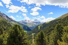 Panorama di Monte Sobretta della montagna nelle alpi di Ortler Fotografie Stock Libere da Diritti