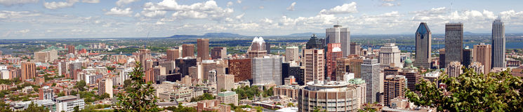Panorama di Montreal Fotografie Stock Libere da Diritti
