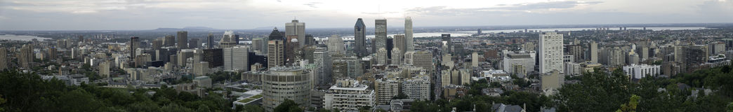 Panorama di Montreal da Mont Royal, Quebec, Canada fotografie stock