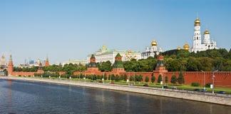 Panorama di Mosca Kremlin e lungomare Immagine Stock Libera da Diritti