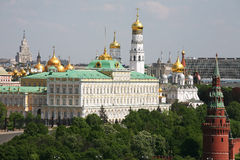 Panorama di Mosca Kremlin - la vista dalla cima Immagini Stock