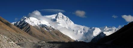 Panorama di Mt.Everest Fotografie Stock Libere da Diritti