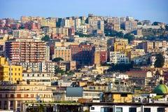 Panorama di Napoli, Italia Fotografia Stock