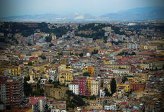 Panorama di Napoli, Italia Fotografie Stock