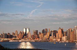 Panorama di New York City Immagini Stock