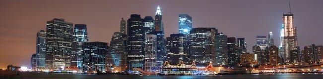 Panorama di New York City Fotografie Stock Libere da Diritti