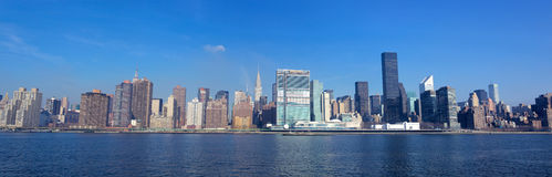 Panorama di New York City Fotografia Stock Libera da Diritti