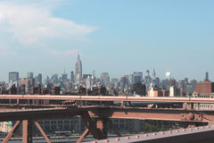Panorama di New York City Fotografie Stock