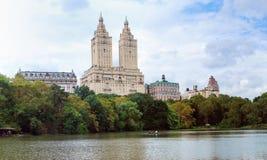Panorama di New York City Central Park Fotografie Stock Libere da Diritti