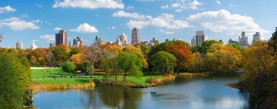 Panorama di New York City Manhattan Central Park fotografia stock libera da diritti