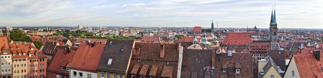 Panorama di Norimberga Immagini Stock
