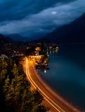 Panorama di notte di Breinz immagine stock libera da diritti