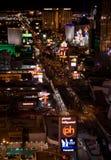 Panorama di notte di Las Vegas fotografie stock