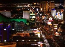 Panorama di notte di Las Vegas fotografie stock libere da diritti