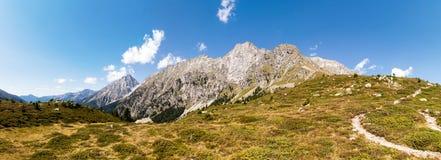 Panorama di Ohrenspitzen Fotografie Stock
