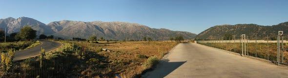 Panorama di Omalos fotografia stock