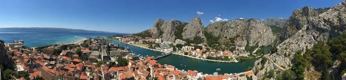 Panorama di Omis Fotografie Stock
