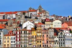 Panorama di Oporto del centro Fotografie Stock Libere da Diritti