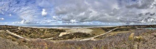Panorama di paesaggio della duna Fotografie Stock