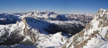 PANORAMA di paesaggio della montagna Immagini Stock Libere da Diritti