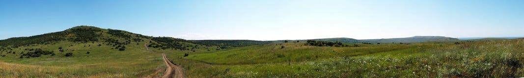 Panorama di paesaggio di estate Fotografie Stock