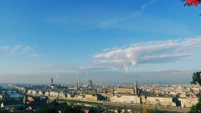 Panorama di paesaggio urbano dell'Italia Firenze al Natale archivi video