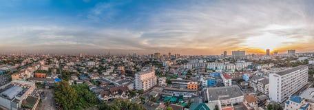 Panorama di paesaggio urbano di Bangkok Fotografia Stock