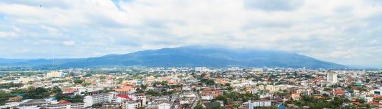 Panorama di paesaggio urbano di Chiang Mai Immagine Stock Libera da Diritti