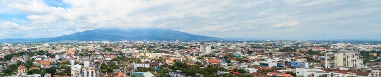 Panorama di paesaggio urbano di Chiang Mai Fotografia Stock Libera da Diritti