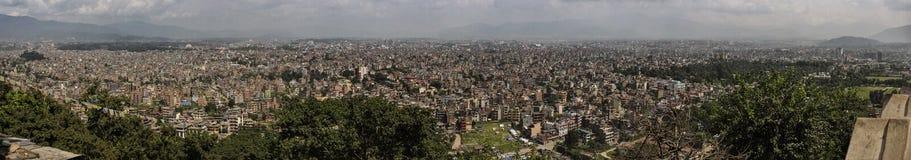 Panorama di paesaggio urbano di Kathmandu nepal Immagini Stock