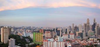Panorama di paesaggio urbano di Singapore Chinatown Immagini Stock