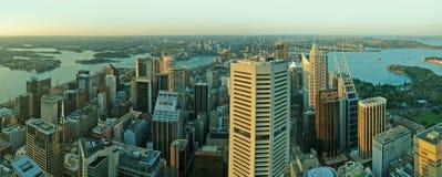 Panorama di paesaggio urbano di Sydney immagini stock