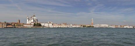 Panorama di paesaggio urbano di Venezia, laguna del fron di vista L'Italia Fotografia Stock Libera da Diritti