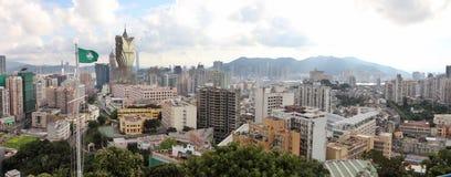 Panorama di paesaggio urbano di Macao, Cina immagini stock
