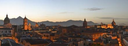 Panorama di Palermo Fotografia Stock