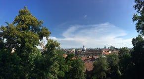 Panorama di panoramica della città di Zagabria Immagini Stock Libere da Diritti