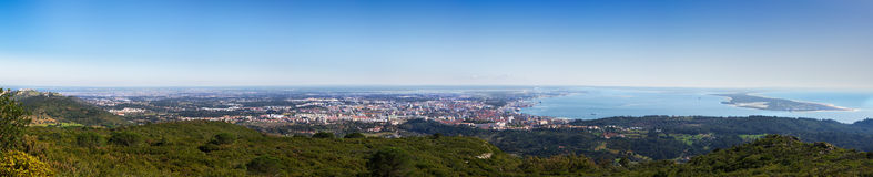 Panorama di panoramica di Setubal Fotografia Stock Libera da Diritti