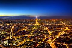 Panorama di Parigi Fotografia Stock Libera da Diritti